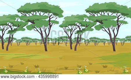 African Savannah Vector Illustration. African Savannah Vector Illustration.
