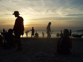 People In Sunset