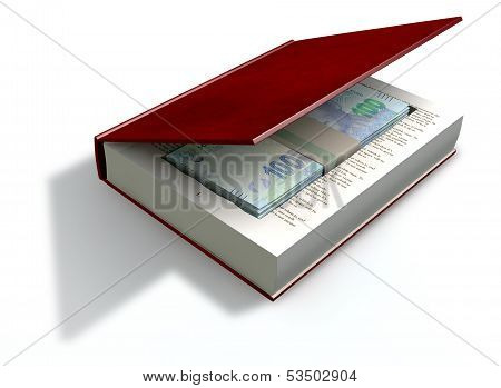 Concealed Rand Notes In A Book Front