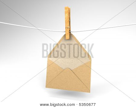 Envelope And Clothespin