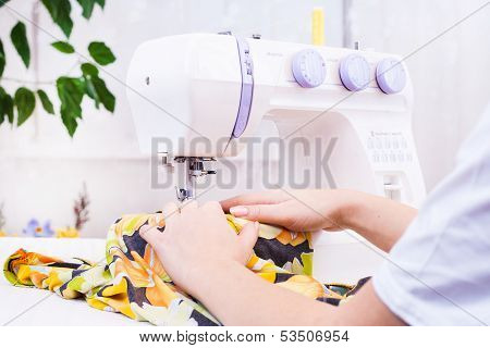 Working from home, a tailor at work.