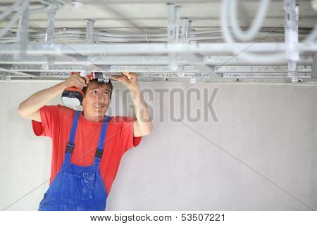 The installation process is false ceiling