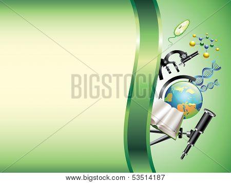 Scientific Horizontal Vector Background