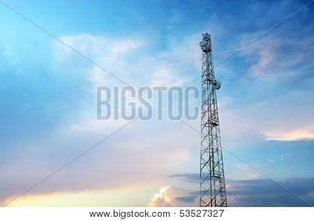 Tele-radio tower. Elemen of design.