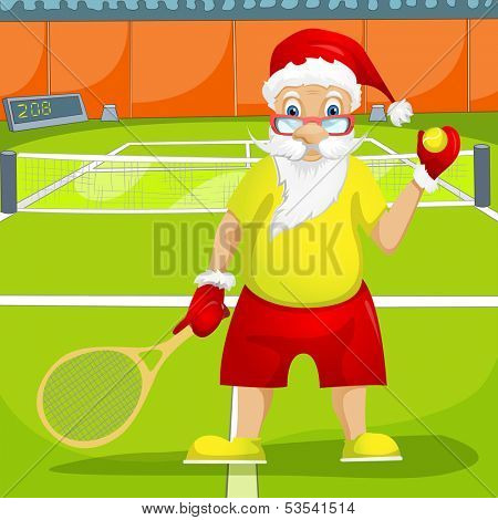 Cartoon Character Santa Claus. Vector EPS 10.