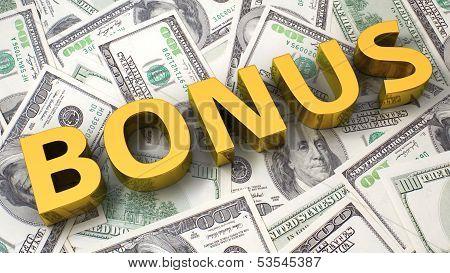 Bonus On The Dollar Background