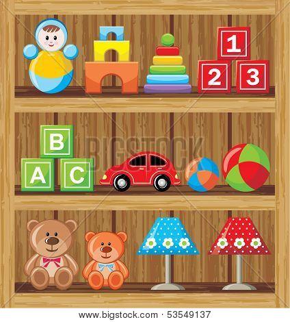 Shelfs With Toys