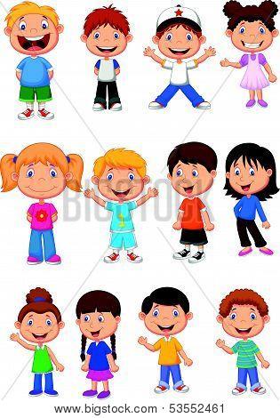 Children cartoon collection set