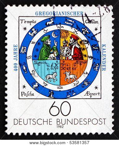 Postage Stamp Germany 1982 Calendar Illumination, By Johannes Ra