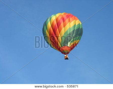Multi Colored Hot Air Balloon