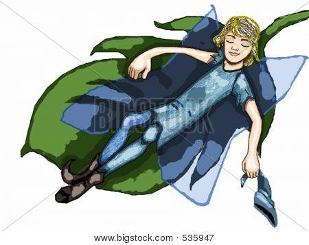 A Little Fairy Teen Catching A Nap ...