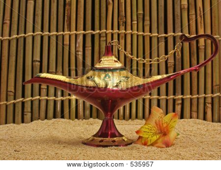 Old Oil Lamp From Afghansitan