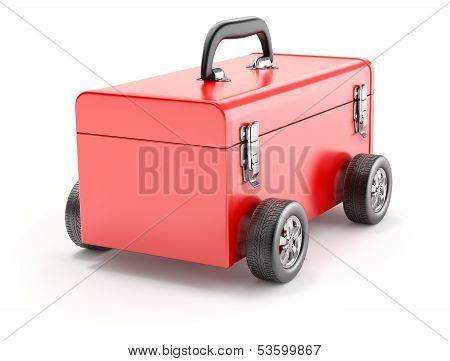 Toolbox on wheels