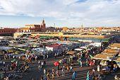 Djemaa el Fna market in Marrakesh, Morocco poster