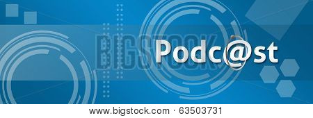 Podcast In Professional Style Background