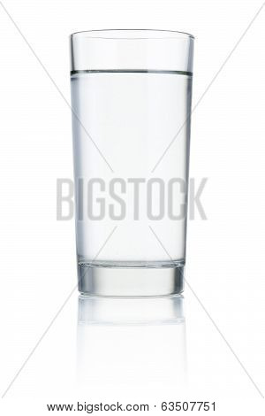 Glass Of Drinking Water Isolated On White Background