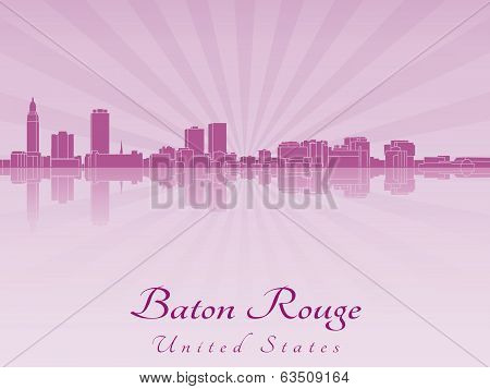 Baton Rouge Skyline In Purple Radiant Orchid