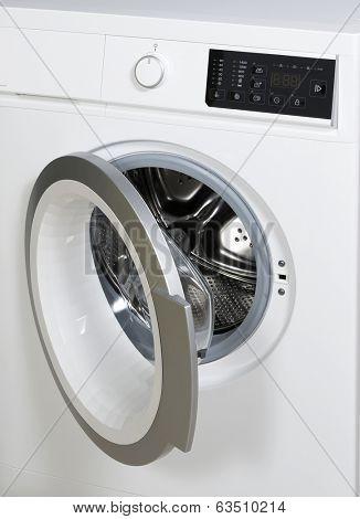 Datail of washing machine.