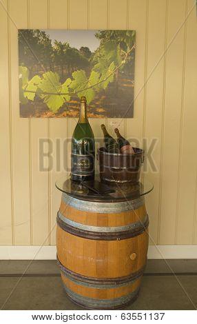Inside of the Mumm Napa Winery in Napa Valley