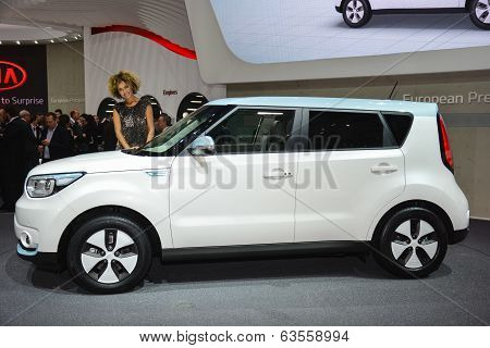 Kia Soul Ev At The Geneva Motor Show
