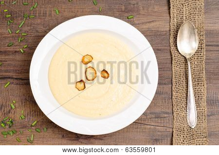 Plate With Soup Of Parsnips