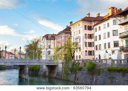 Medieval Ljubljana, capital of Slovenia, Europe.