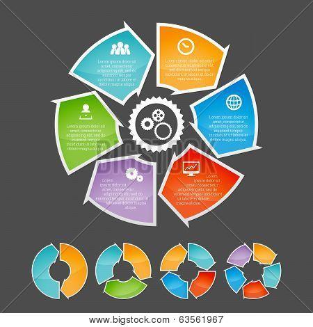 Circling Arrow Infographic Element Set