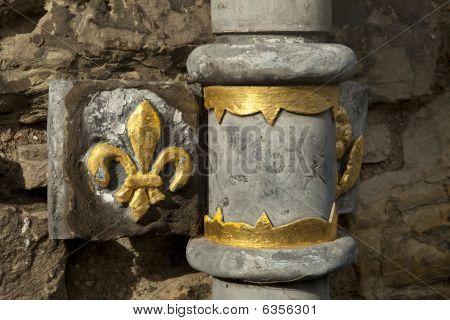 Edinburgh Castle Drainpipe Detail