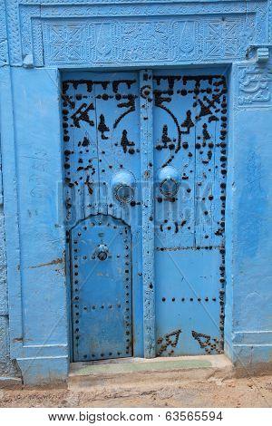 Ancient Blue Door