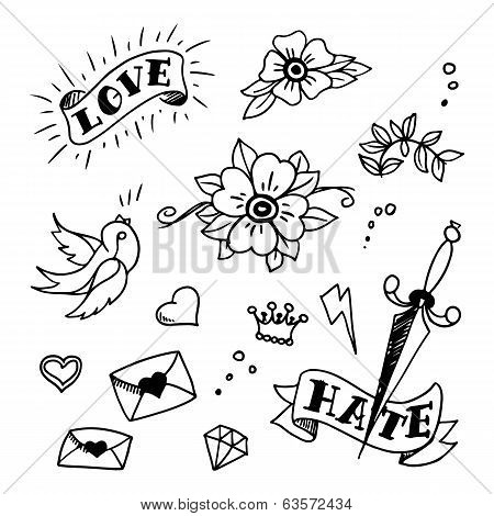 Set Old School Vector Photo Free Trial Bigstock