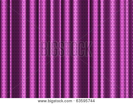 A Pink Silk Curtain With Lace Effect