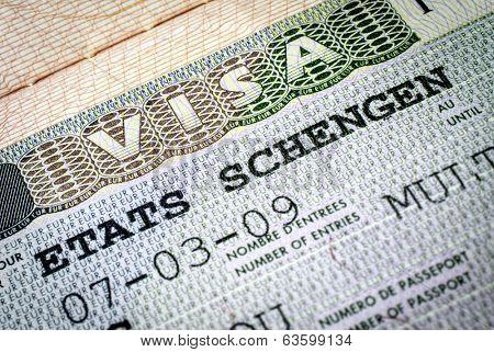 Schengen visa. Focus on