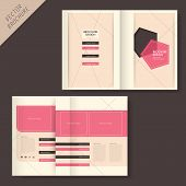 vector geometry brochure design with line and grid poster