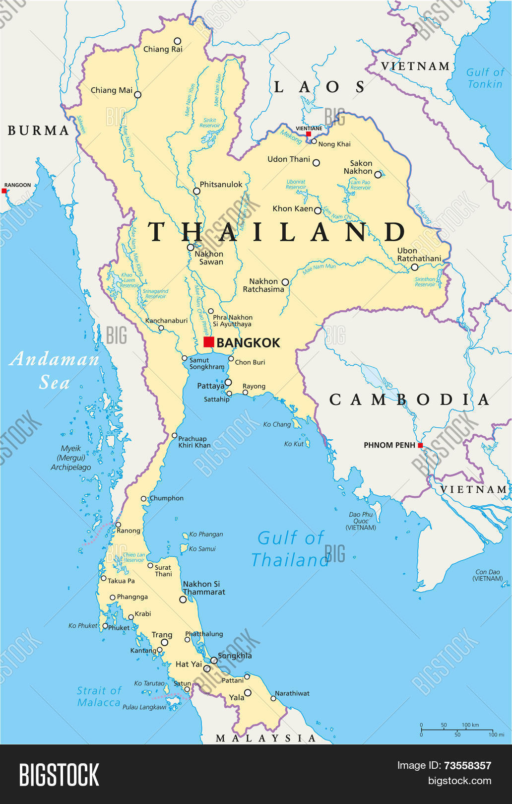 Thailand Political Vector Photo Free Trial Bigstock