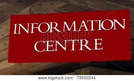 information center sign