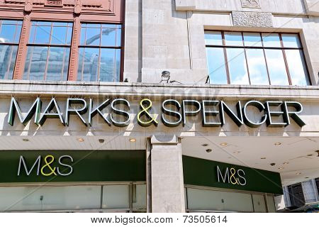 Inscription of an Oxford street branch of MARK & SPENSER