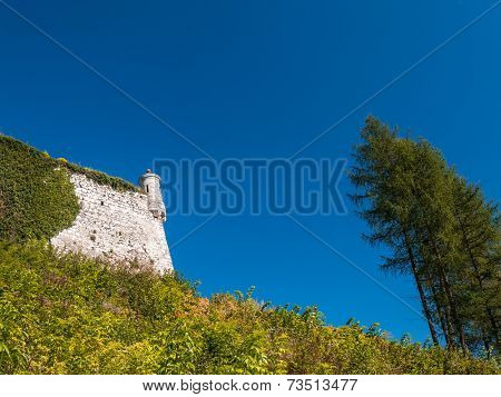 Part of the Castle fortification in Pieskowa Skala, National Ojcow Park, Poland
