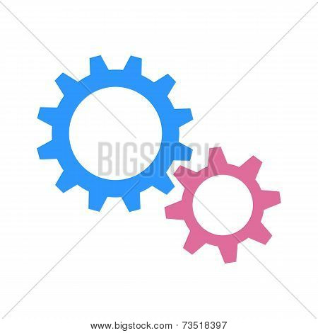 Gearwheels as man and woman