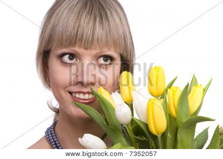 Woman With Flowers.