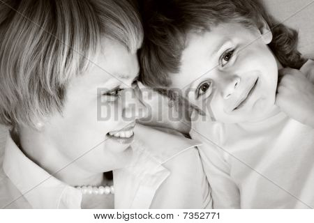 Happy Family - Mother And Son