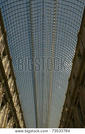 Glass roof of St Hubert Royal Galleries in Brussels