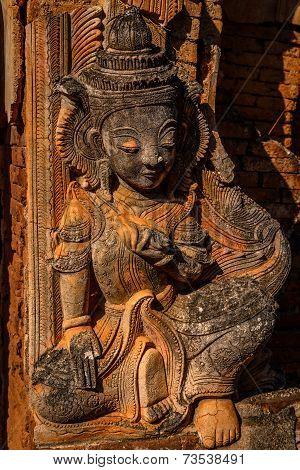 Buddha Statue In Bagan Temple, Burma (myanmar)