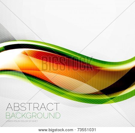 Wave absract layout design - business hi-tech futuristic conceptual backdrop, wallpaper, background poster