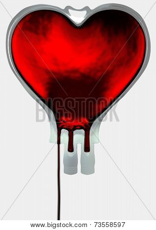 Blood Bag Heart Shape