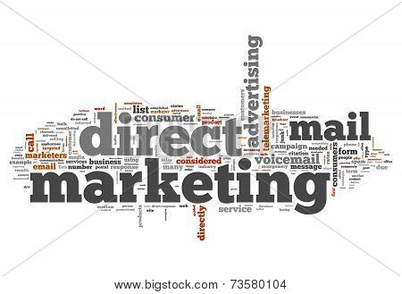Word Cloud Direct Marketing