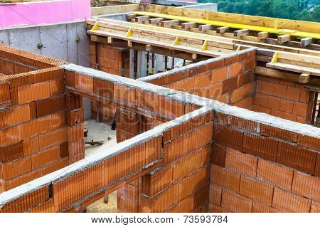 a detached house is built in solid construction with brick.
