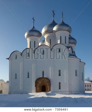 Sophia Orthodox Cathedral In Vologda Kremlin, Russia
