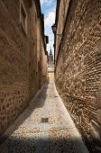 Narrow lane in old town of Toledo, Spain poster