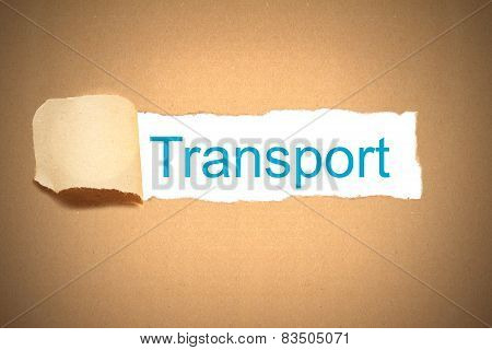 Brown Paper Torn To Reveal Transport