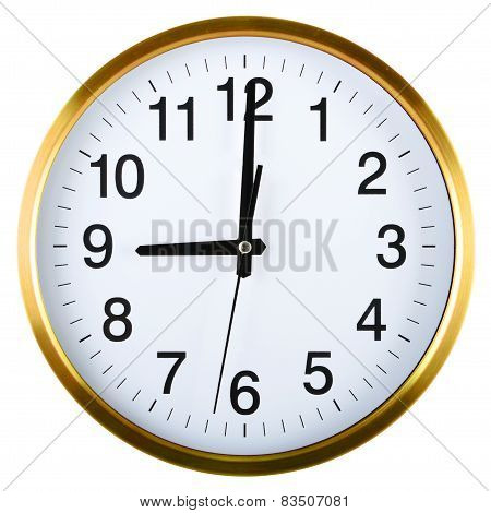 Wall Clock Isolated On White